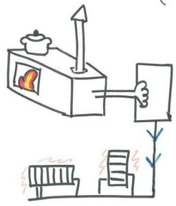 casa pasiva moncalvillo cocina leña calefactora biomasa