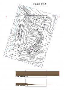 Plano topográfico parcela actual original