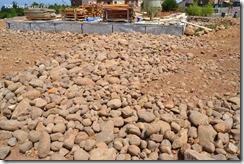 bolo piedra drenaje alrededor de la casa